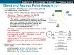 client and access point association