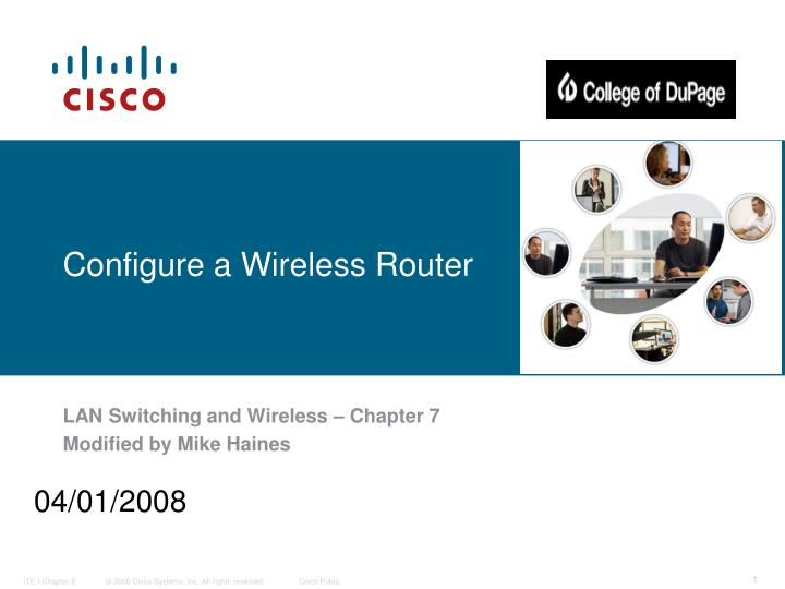 configure a wireless router n.