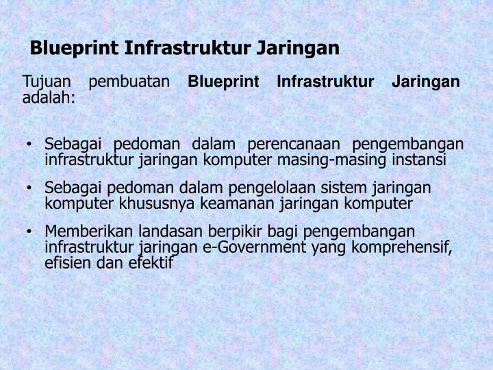 Ppt blueprint pengembangan e government blue print powerpoint blueprint infrastruktur jaringan malvernweather Gallery