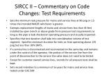 sircc ii commentary on code changes test requirements