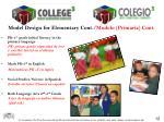 model design for elementary cont modelo primaria cont