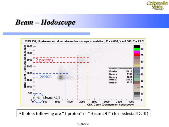 Beam – Hodoscope
