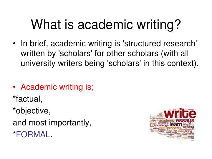 """what is an academic writer In the article what is """"academic"""" writing written by l lennie irvin, discusses what every incoming freshman in college should know about academic writing and how it isn't so terrible."""