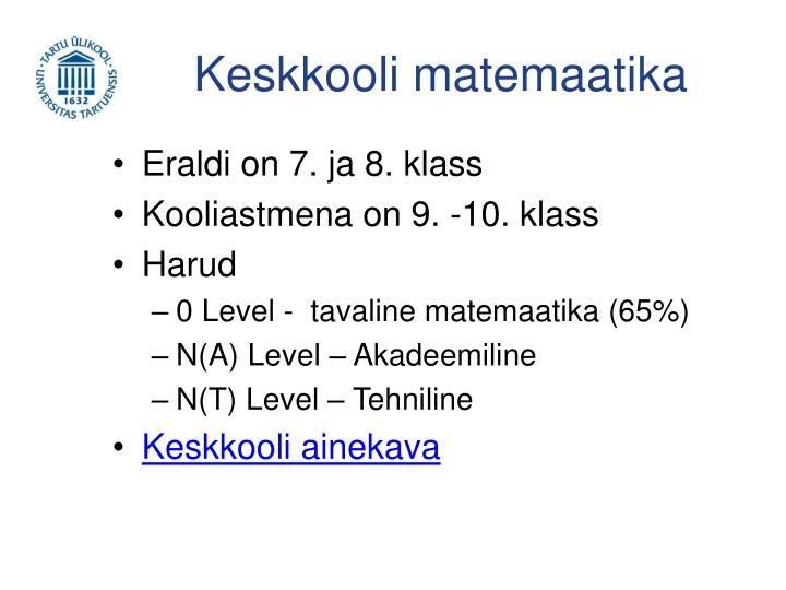 Keskkooli matemaatika