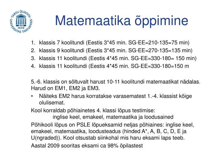 Matemaatika õppimine