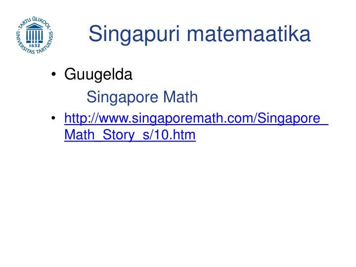 Singapuri matemaatika