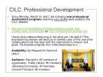 cilc professional development