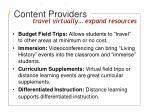 content providers