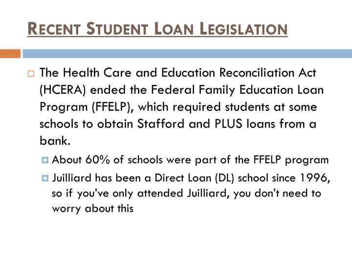 Recent Student Loan Legislation