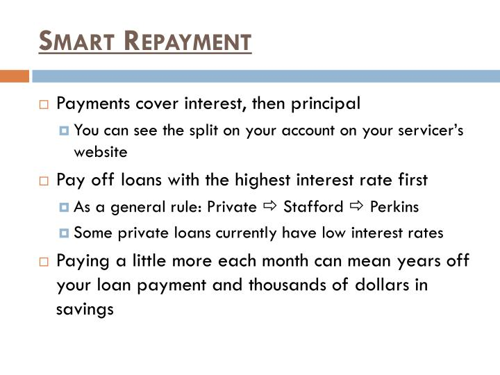 Smart Repayment