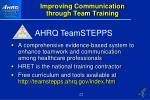 improving communication through team training