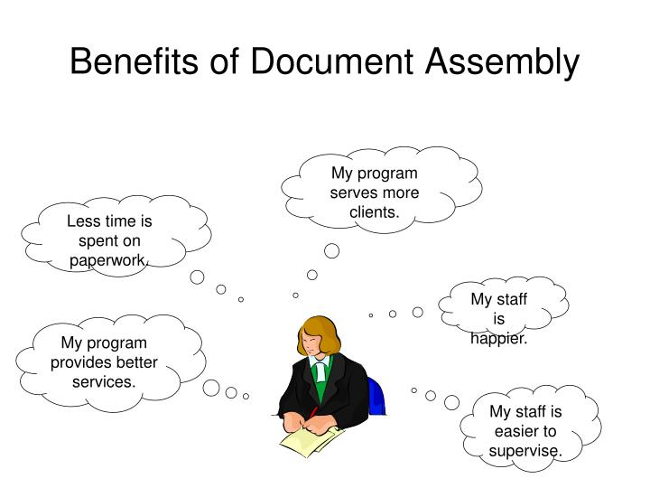 Benefits of Document Assembly