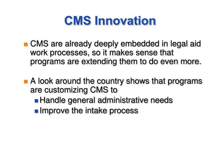 CMS Innovation