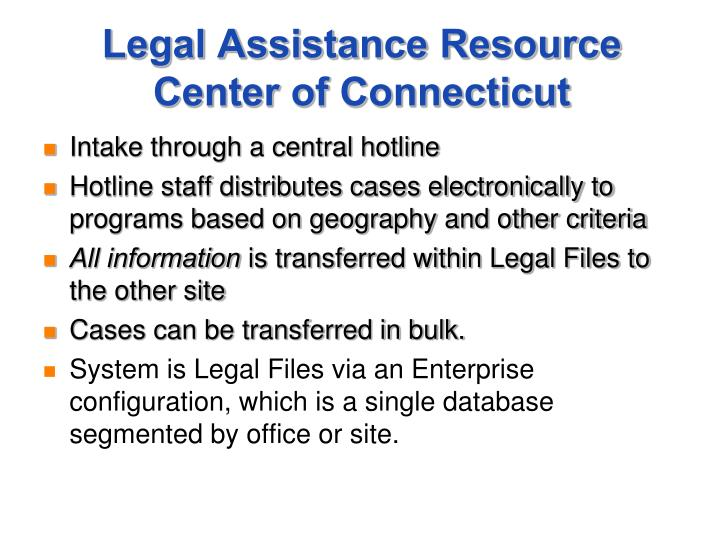 Legal Assistance Resource Center of Connecticut