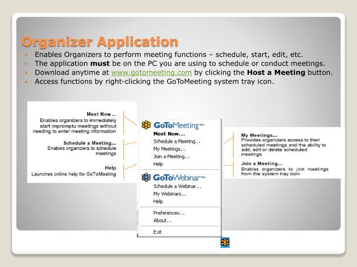 Organizer Application