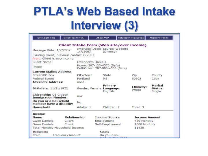 PTLA's Web Based Intake Interview (3)