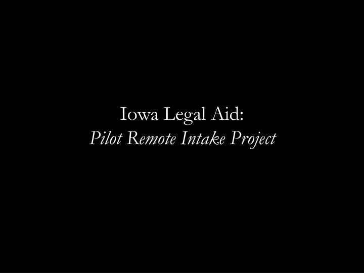 Iowa Legal Aid:
