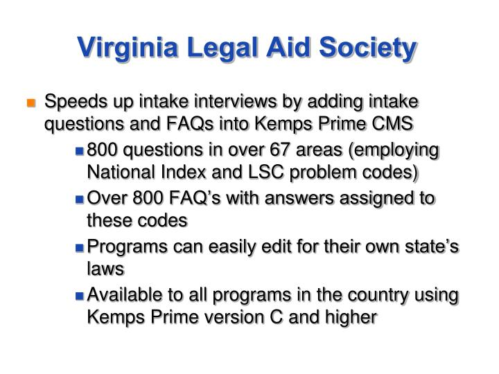 Virginia Legal Aid Society