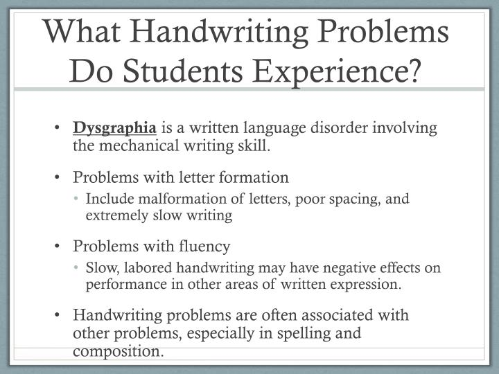 What Handwriting Problems Do Students Experience?