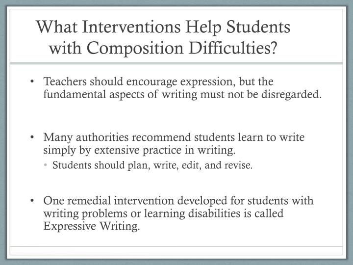 What Interventions Help Students