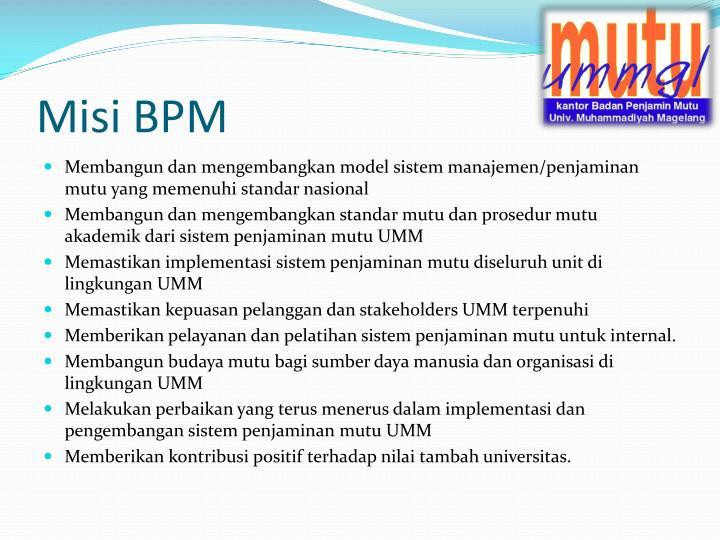 Misi BPM