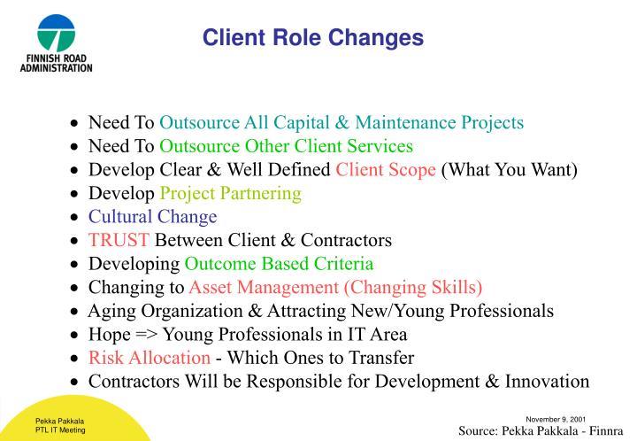 Client Role Changes