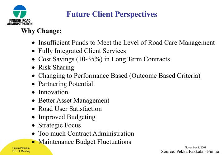 Future Client Perspectives
