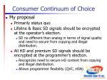 consumer continuum of choice2