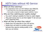 hdtv sets without hd service1