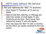 hdtv sets without hd service2
