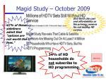 magid study october 2009