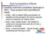 past competitive efforts1