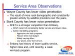 service area observations