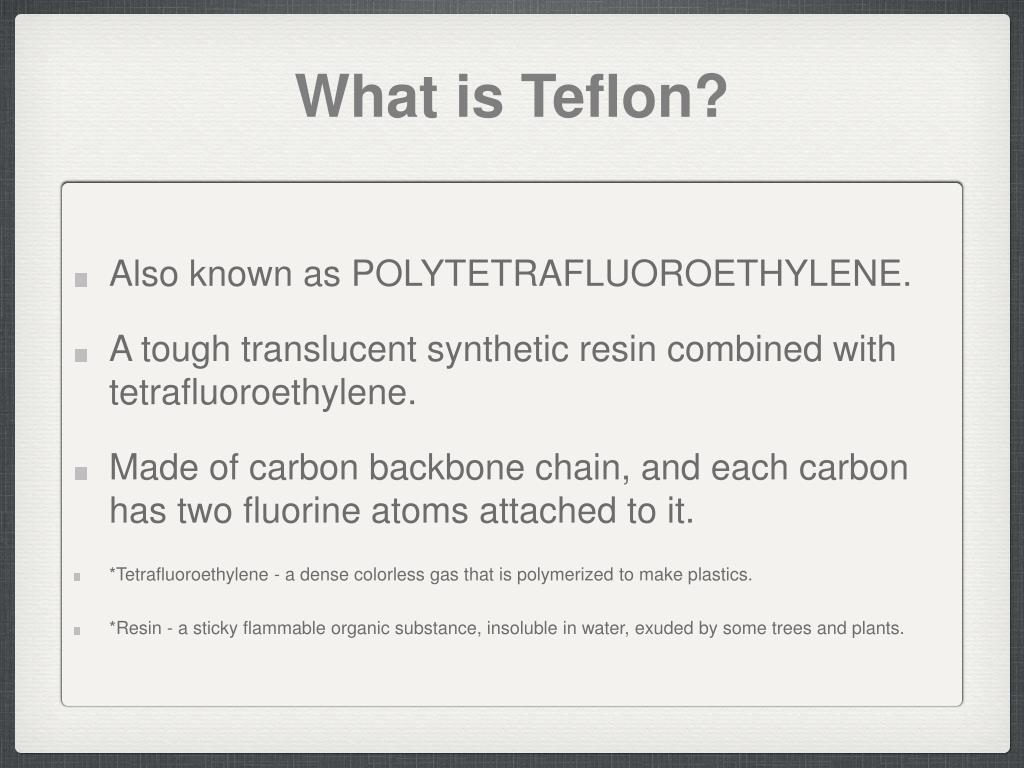 PPT - Teflon PowerPoint Presentation - ID:4746296