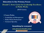 education is our primary focus