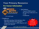 your primary resource for career information