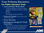 your primary resource for public outreach tools