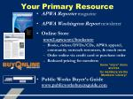 your primary resource