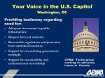 your voice in the u s capitol washington dc