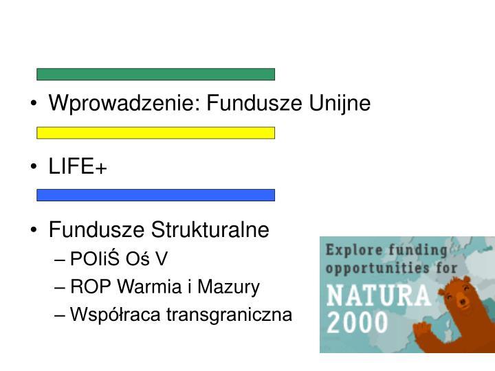 Wprowadzenie: Fundusze Unijne