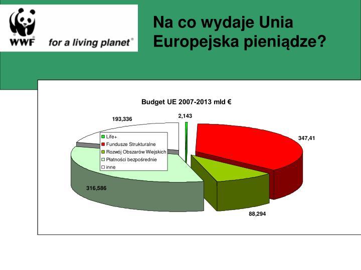 Na co wydaje Unia Europejska pieni