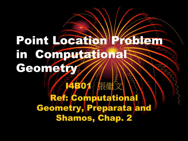 point location problem in computational geometry n.