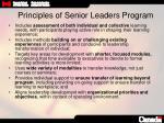 principles of senior leaders program
