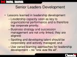 senior leaders development