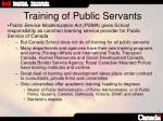training of public servants