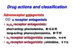 drug actions and classification2