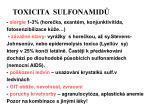 toxicita sulfonamid