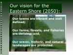 our vision for the eastern shore 2050