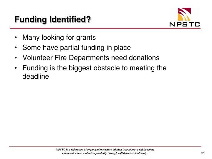 Funding Identified?