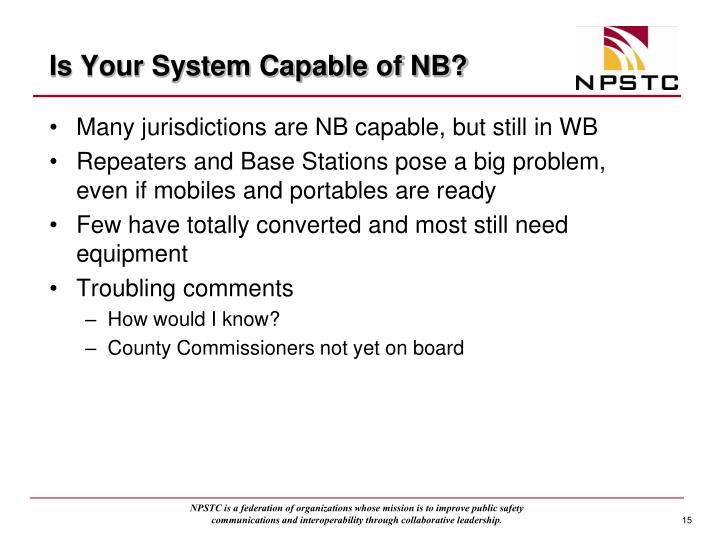 Is Your System Capable of NB?